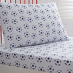bluezoo - Boy's white football sheets set