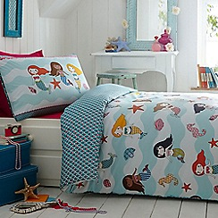 Butterfly Home by Matthew Williamson - Kids' blue 'Mermaids' duvet cover and pillow case set