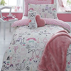 Star by Julien Macdonald - Kids' pink duvet cover and pillow case set