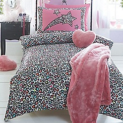 Star by Julien Macdonald - Kids' white 'Leopard' duvet cover and pillow case set