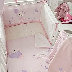 bluezoo - Kids' pink bunny print bed in a bag