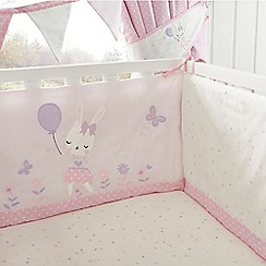 bluezoo - Kids' light pink bunny print cot bed bumper
