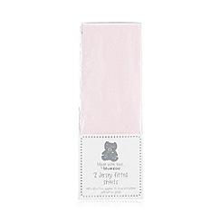 bluezoo - Pack of two light pink fitted cot sheets