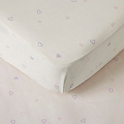 bluezoo - Pack of two light pink heart print sheets