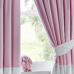 bluezoo - Light pink bunny print curtains