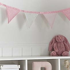 bluezoo - Kids' light pink bunny print bed bunting