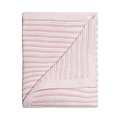 bluezoo - Baby girls' light pink knitted blanket