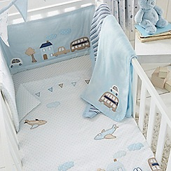 bluezoo - Kids' blue vehicle print bed in a bag