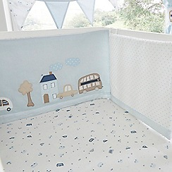 bluezoo - Kids' blue vehicle print cot bed bumper