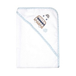bluezoo - Babies' white bus and car cuddle robe