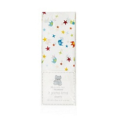 bluezoo - Pack of two white spotted print sheets