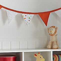 bluezoo - Kids' white animal and star print bed bunting