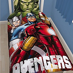 The Avengers - Kids' multicoloured 'Avengers Shield' duvet cover and pillow case set