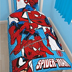 Spider-man - Kids' red 'Spiderman Parker' single duvet cover and pillow case set
