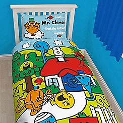 Mr. Men - Light blue 'Mr Men' bedding set