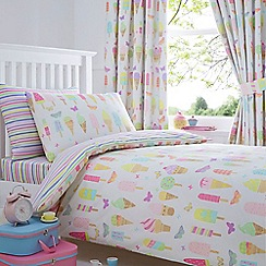 bluezoo - Kids' white 'Ice creams' duvet cover and pillow case set