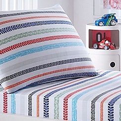 bluezoo - Kids' white 'Tyre Tracks' fitted sheet and pillow case set