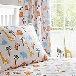 Ben de Lisi Home - Kids' white 'Around the World' fitted sheet and pillow case set