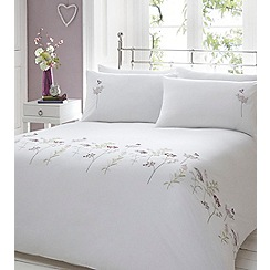Home Collection - White embroidered floral 'Felicity' bedding set