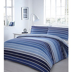 Home Collection - Blue striped 'Ashton' bedding set