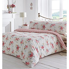 Home Collection - Cream floral print 'Cheryl' bedding set
