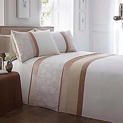 Home Collection - Taupe 'Velvet Circles' bedding set
