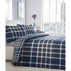 Home Collection - Blue and grey checked 'Jayden' bedding set
