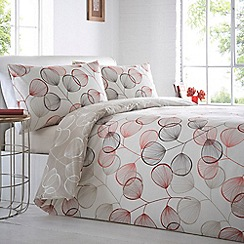 Home Collection - Cream leaf print 'Shalford' bedding set