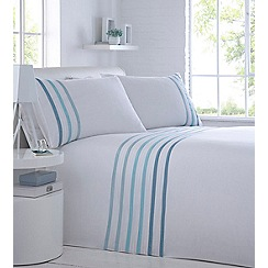 Home Collection - White ribbon detail 'Dakota' bedding set