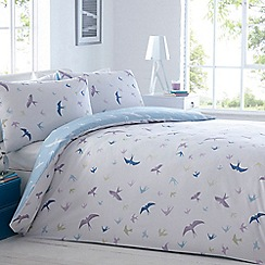 Home Collection - White 'Swallows' bedding set