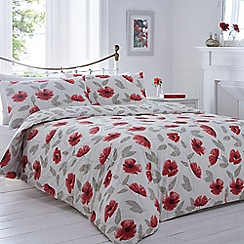 Home Collection - White poppy bedding set