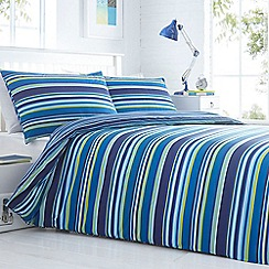 Home Collection - Blue striped bedding set