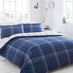 Home Collection - Blue checked bedding set