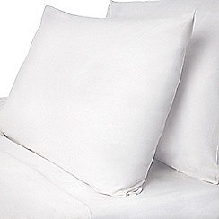 Dorma - White Dorma pure cotton fitted sheet set