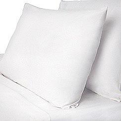 Dorma - White Dorma pure cotton fitted sheet set