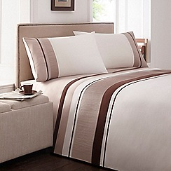 Home Collection - Natural striped cotton blend bedding set