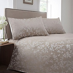 Home Collection - Natural jacquard 'Blossom' bedding set