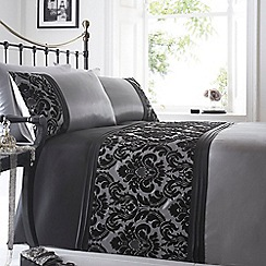 Home Collection - Silver flocked 'Chester' bedding set