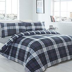 Home Collection - Nico check blue bedding set