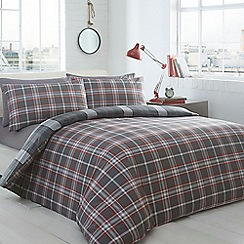Home Collection - Grey checked bedding set