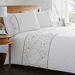 Home Collection - White butterfly and heart print bedding set