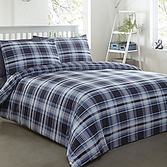 Home Collection - Blue checked print bedding set