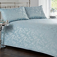 Home Collection - Light blue floral print bedding set