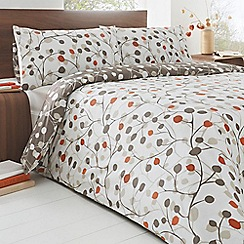 Home Collection - White branch print bedding set