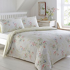 Home Collection - White floral print bedding set