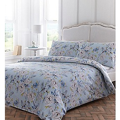 Home Collection - Blue floral printed 'Katelyn' duvet cover and pillow case