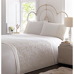 Home Collection - Cream 'Audrey' duvet cover and pillow case
