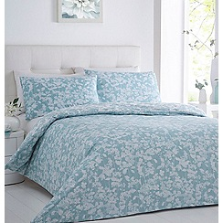 Debenhams - Aqua floral 'Paige' bedding set