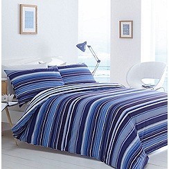 Debenhams - Blue striped 'Columbia' bedding set