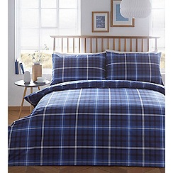 Debenhams - Blue check 'Dexter' bedding set